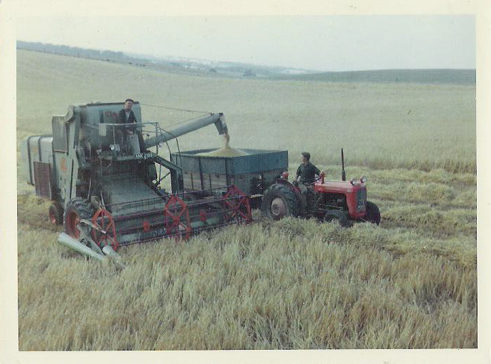Michael Foster on Tractor